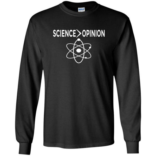 science opinion long sleeve - black