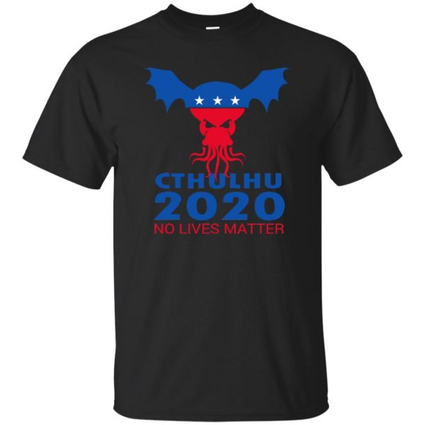 cthulhu no lives matter shirt - black