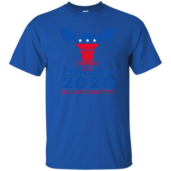cthulhu no lives matter t shirt - royal blue