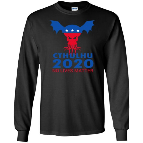 cthulhu no lives matter long sleeve - black