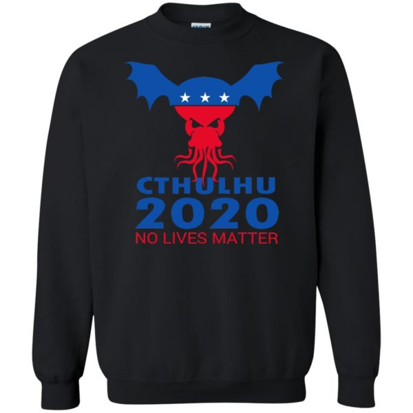 cthulhu no lives matter sweatshirt - black