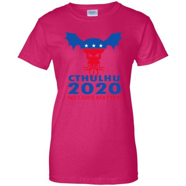cthulhu no lives matter womens t shirt - lady t shirt - pink heliconia