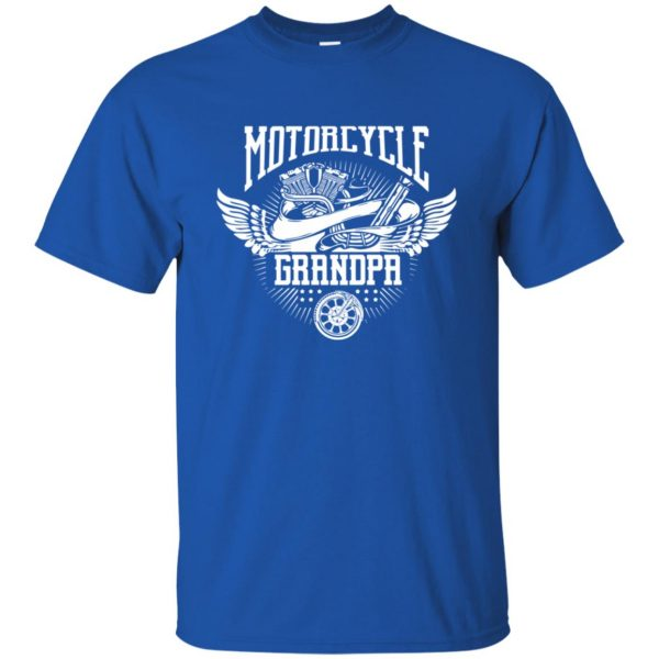 grandpa biker shirts t shirt - royal blue