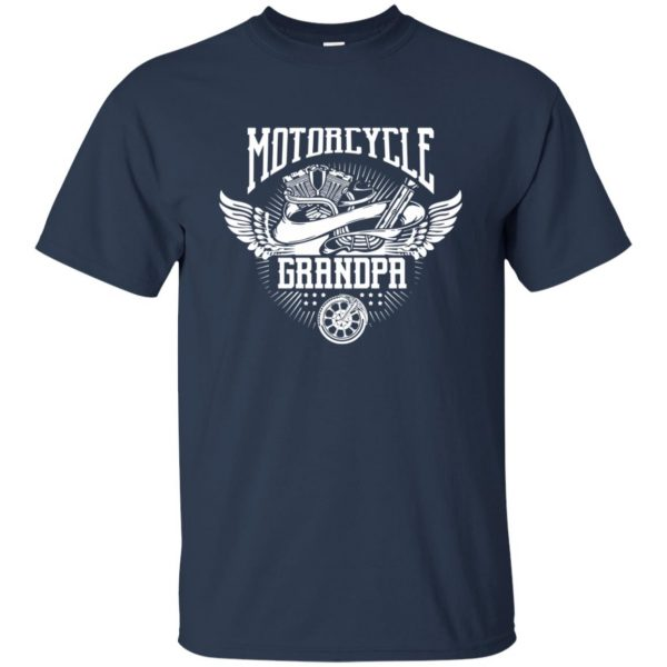 grandpa bikers t shirt - navy blue