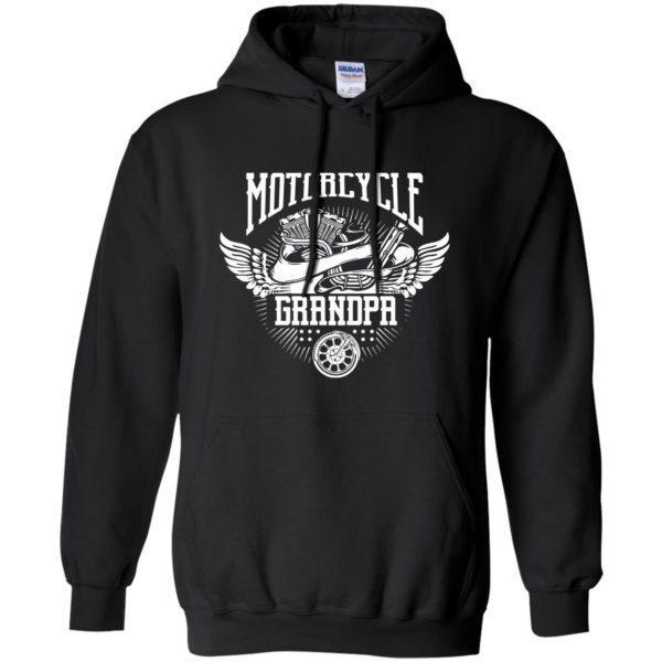 grandpa bikers hoodie - black