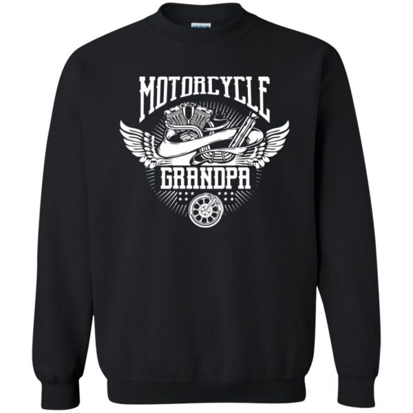 grandpa biker shirts sweatshirt - black