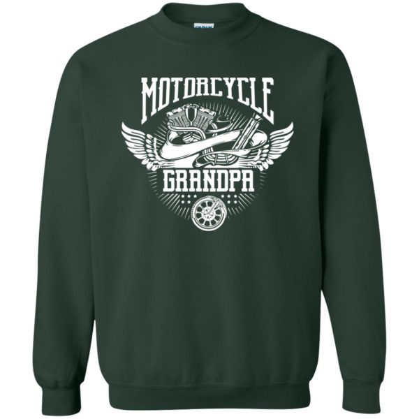 grandpa biker shirts sweatshirt - forest green