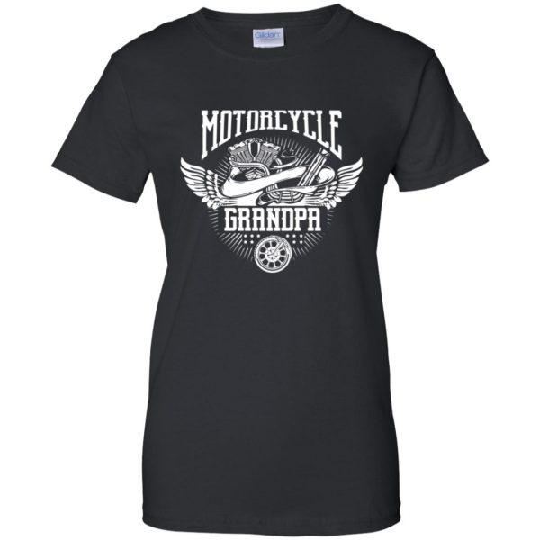 grandpa biker shirts womens t shirt - lady t shirt - black