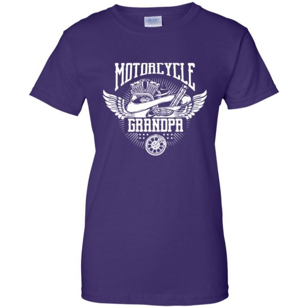 grandpa biker shirts womens t shirt - lady t shirt - purple
