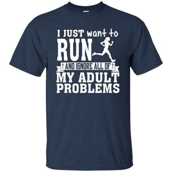 I Just Want To Run t shirt - navy blue