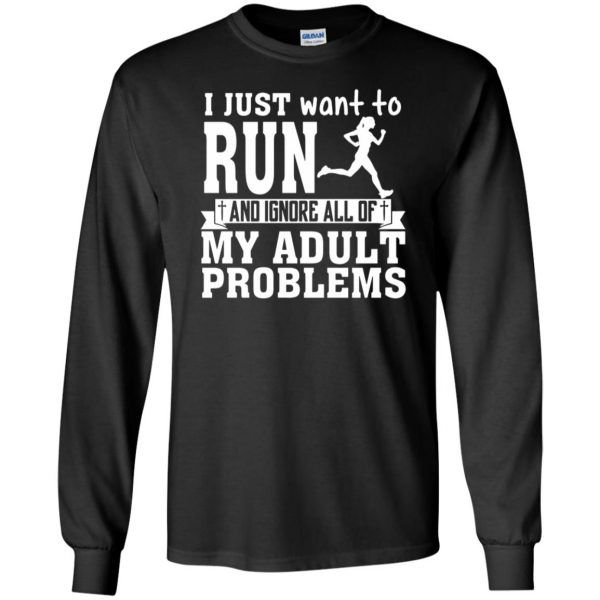 I Just Want To Run long sleeve - black
