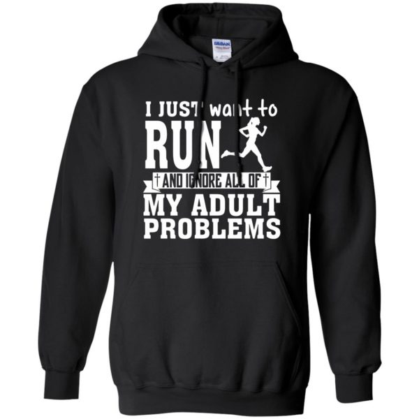 I Just Want To Run hoodie - black
