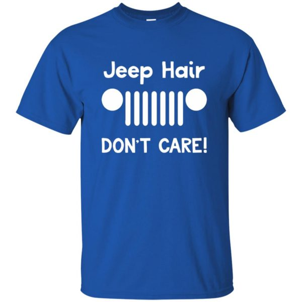 jeep hair t shirt - royal blue
