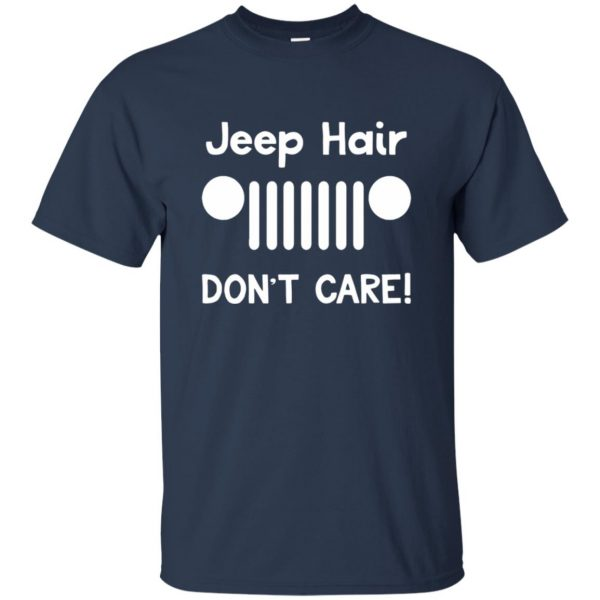 jeep hair t shirt - navy blue