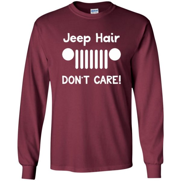 jeep hair long sleeve - maroon