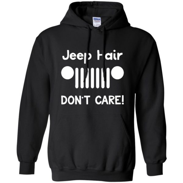 jeep hair shirt hoodie - black