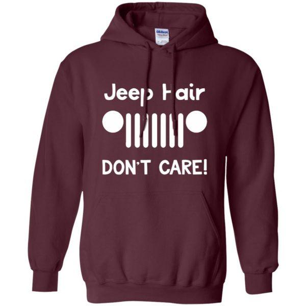 jeep hair shirt hoodie - maroon