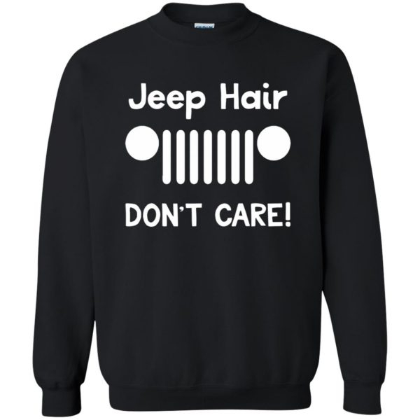 jeep hair sweatshirt - black