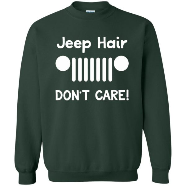 jeep hair sweatshirt - forest green