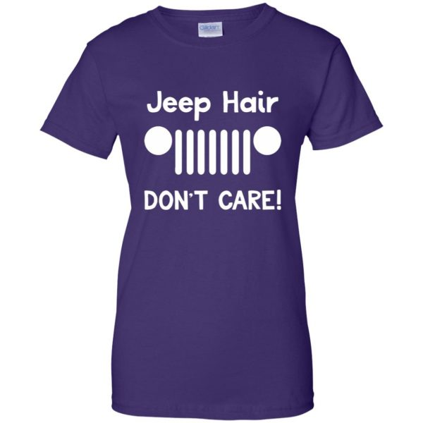 jeep hair womens t shirt - lady t shirt - purple