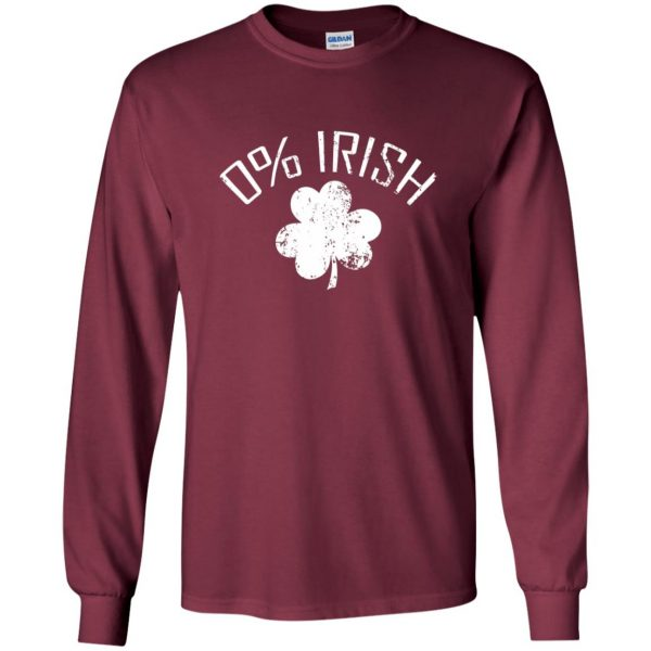 0 irish t shirt long sleeve - maroon