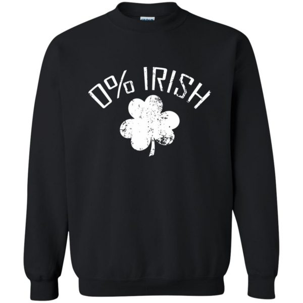 0 irish t shirt sweatshirt - black