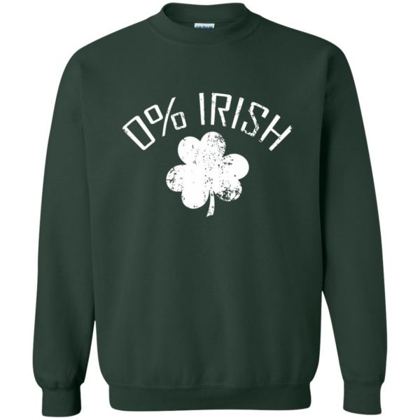 0 irish t shirt sweatshirt - forest green