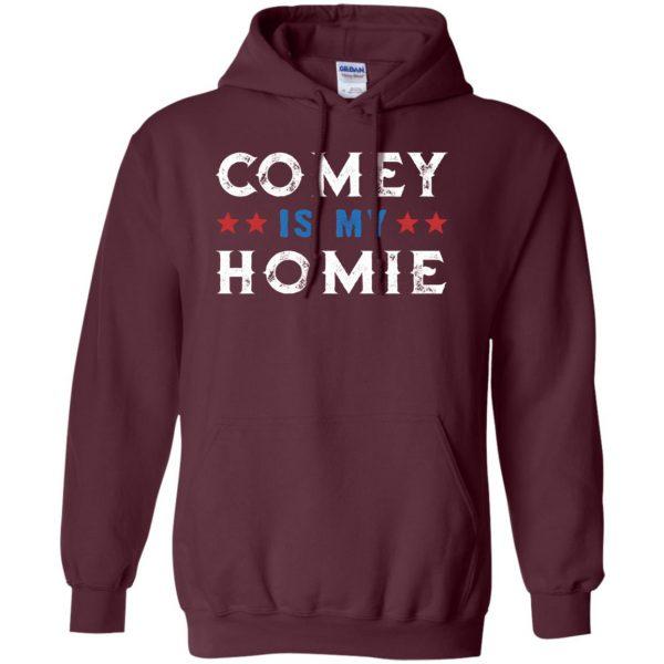 comey is my homey hoodie - maroon