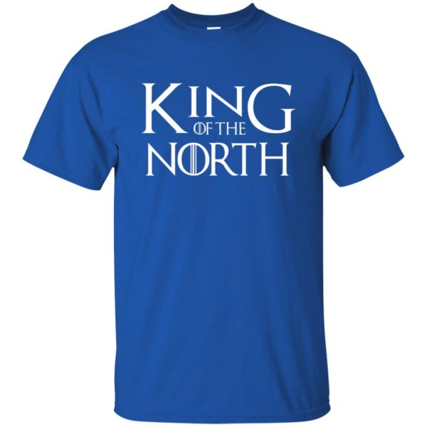 king of the north t shirt - royal blue