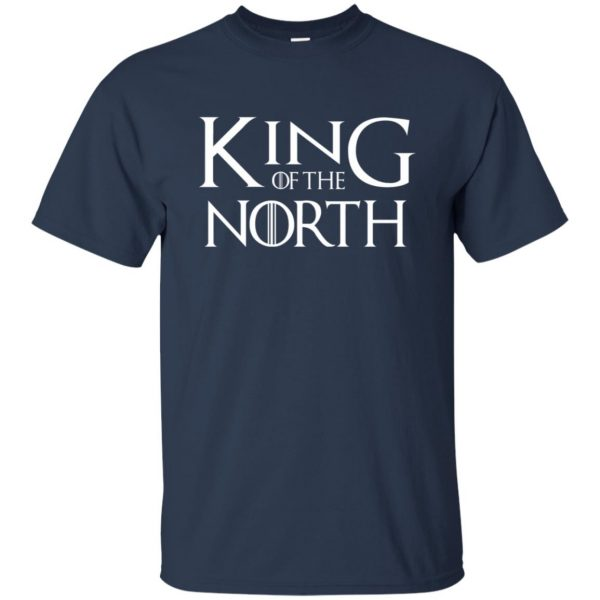 king of the north t shirt - navy blue