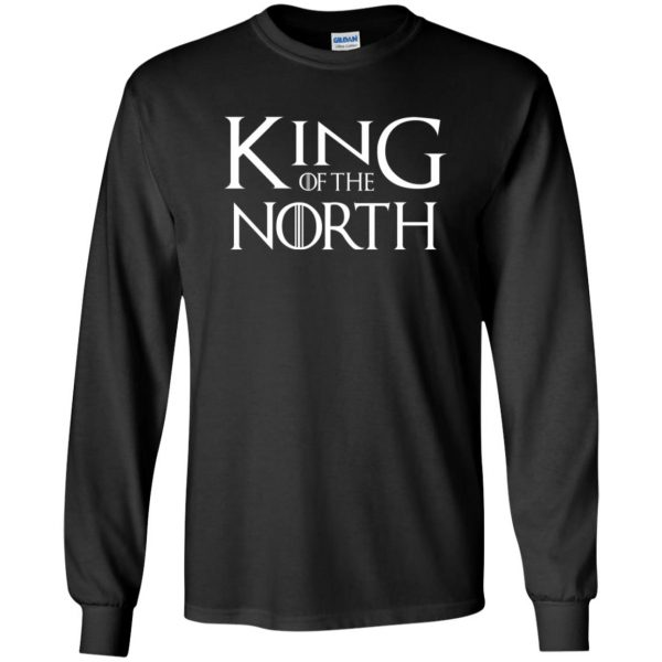 king of the north long sleeve - black
