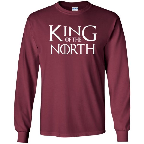 king of the north long sleeve - maroon