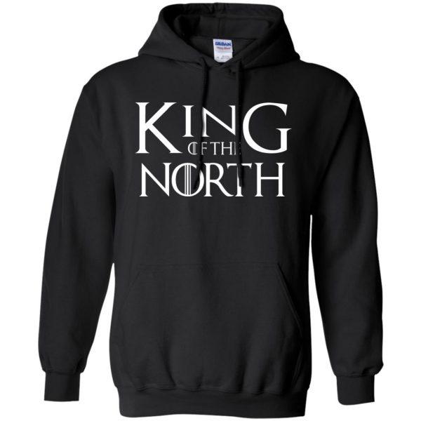 king of the north shirt hoodie - black