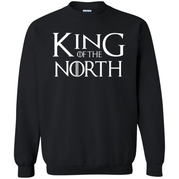 king of the north sweatshirt - black