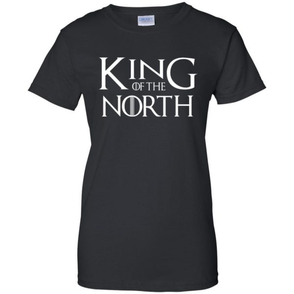 king of the north shirt womens t shirt - lady t shirt - black