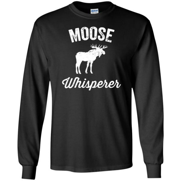 got moose t shirt long sleeve - black
