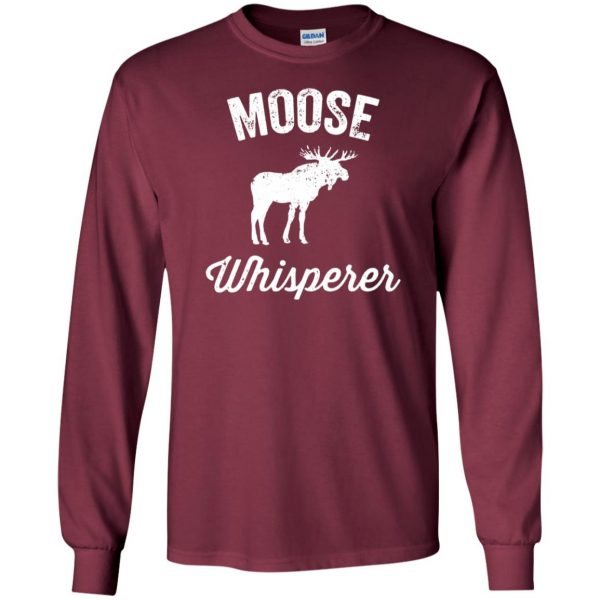 got moose t shirt long sleeve - maroon