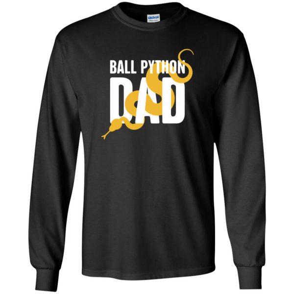 ball python t shirts long sleeve - black