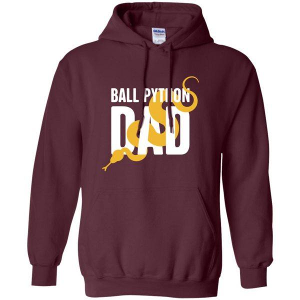 ball python t shirts hoodie - maroon