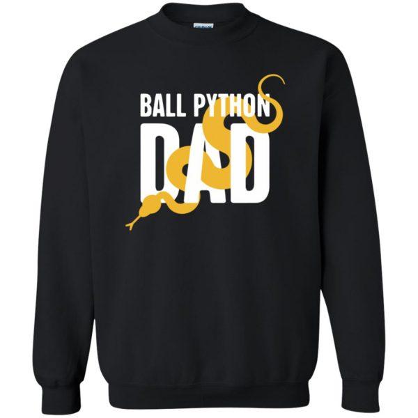 ball python t shirts sweatshirt - black