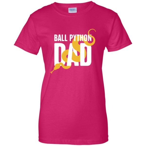 ball python womens t shirt - lady t shirt - pink heliconia