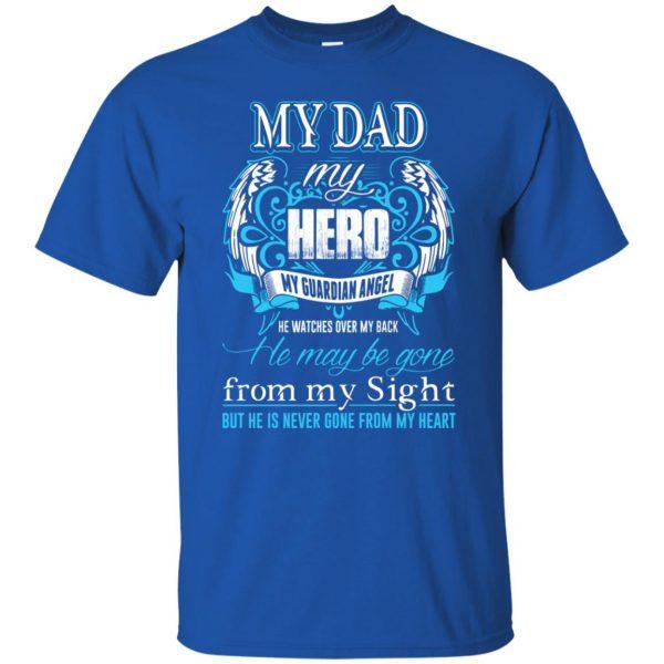 my daddy my hero t shirt - royal blue