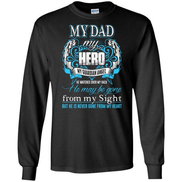 my daddy my hero long sleeve - black