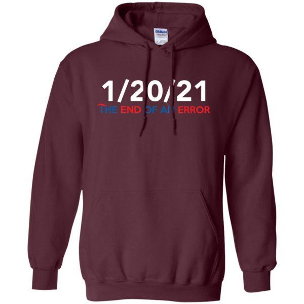 end of an error hoodie - maroon