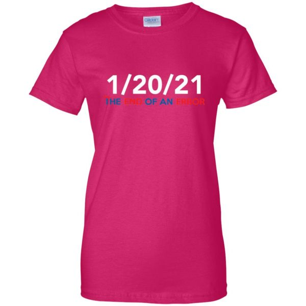 end of an error womens t shirt - lady t shirt - pink heliconia