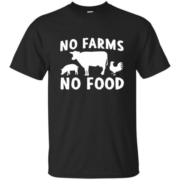 no farms no food - black