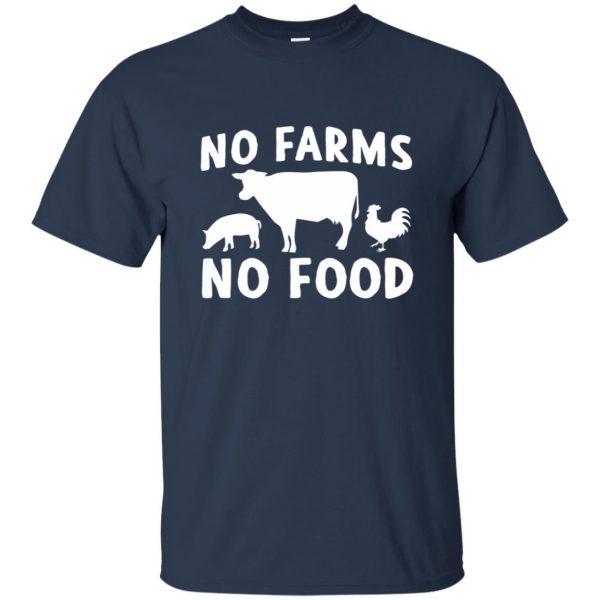 no farms no food shirt t shirt - navy blue