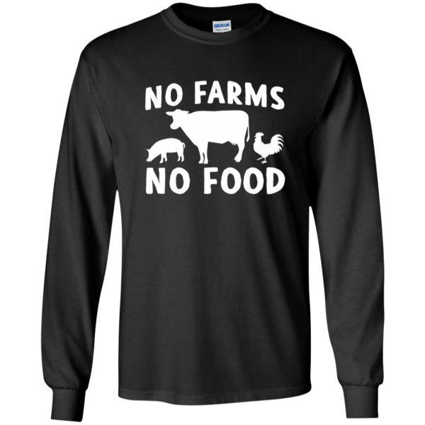 no farms no food shirt long sleeve - black