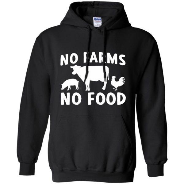 no farms no food shirt hoodie - black