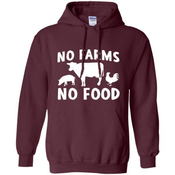 no farms no food shirt hoodie - maroon